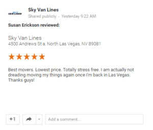 Mover Reviews Las Vegas